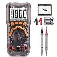 Tacklife DM10 Digital Multimeter Batterietester für Batteriespannung, AC/DC Spannung, Strom, Widerstand, Diode, NCV Funktion mit hintergrundbeleuchtem Bildschirm