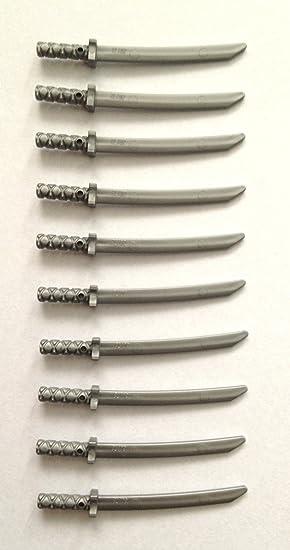 LEGO Ninjago: 10 espadas de plata Samurai Ninja (armas para ...