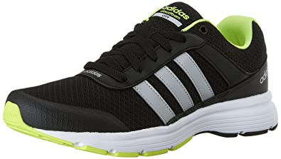 adidas NEO Men\u0027s Cloudfoam Vs City Shoes,Black/Metallic Silver/Yellow,8.5