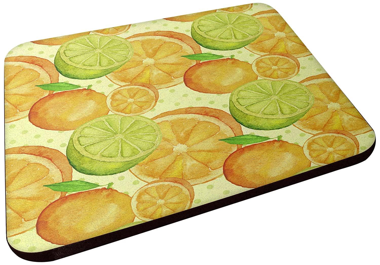 Carolines Treasures BB7517FC Watercolor Limes and Oranges Citrus Decorative coasters 3.5 Multicolor