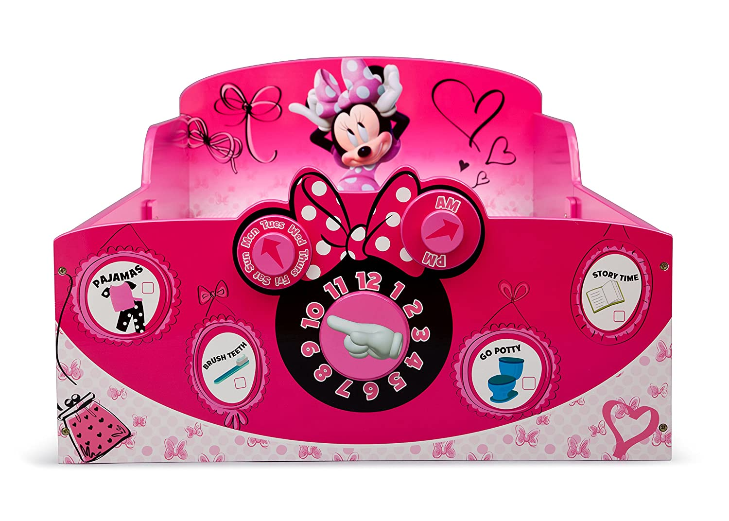 amazoncom delta children interactive wood toddler bed disney minnie mouse baby