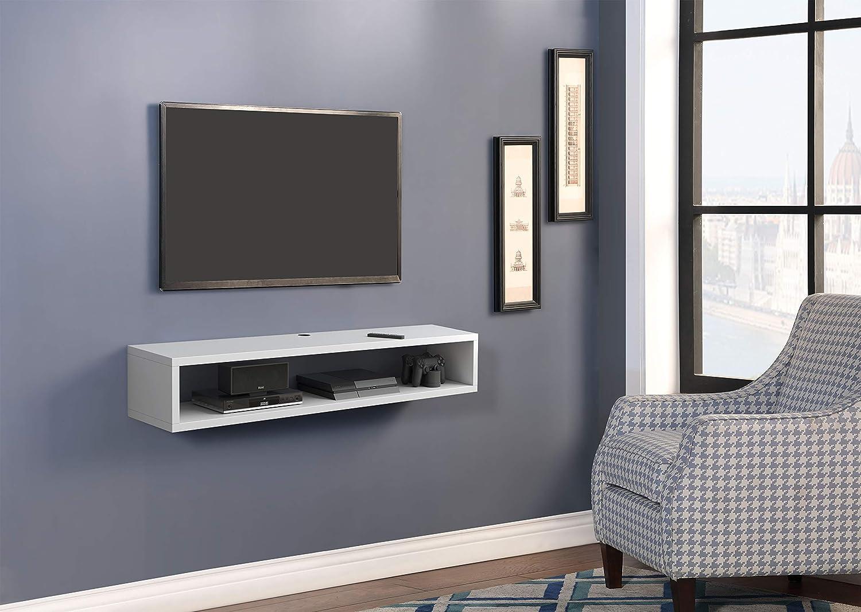 Martin Furniture IMMA350W Wall Mount tv Stand, White