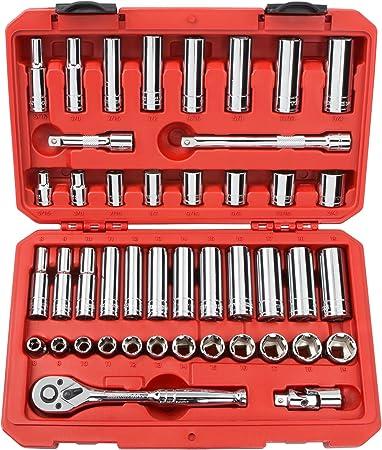 | SHD91102 TEKTON 3//8 Inch Drive 6-Point Socket Set 8-19 mm 12-Piece