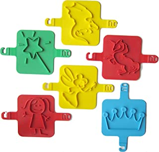 product image for Red Rooster Toy Company Beach Stamps, Fantasy Shapes - Set of 6
