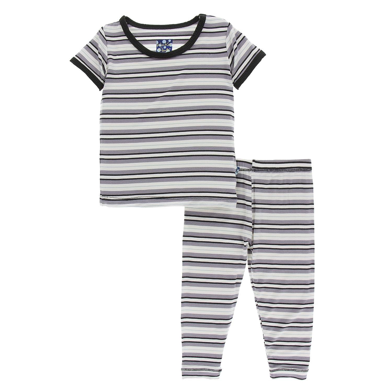 b6c543927 Amazon.com: KicKee Pants Print Short Sleeve Pajama Set in Feather Mandala:  Infant And Toddler Pajama Sets: Clothing