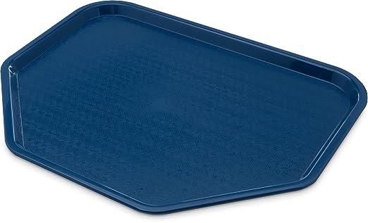 Carlisle Cafe Trapezoide - Bandeja de plástico para alimentos (certificado NSF, sin BPA)