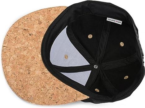 styleBREAKER Gorra Snapback con Visera de Corcho Unisex 04023051 Ajustable Gorra de b/éisbol de 6 Paneles