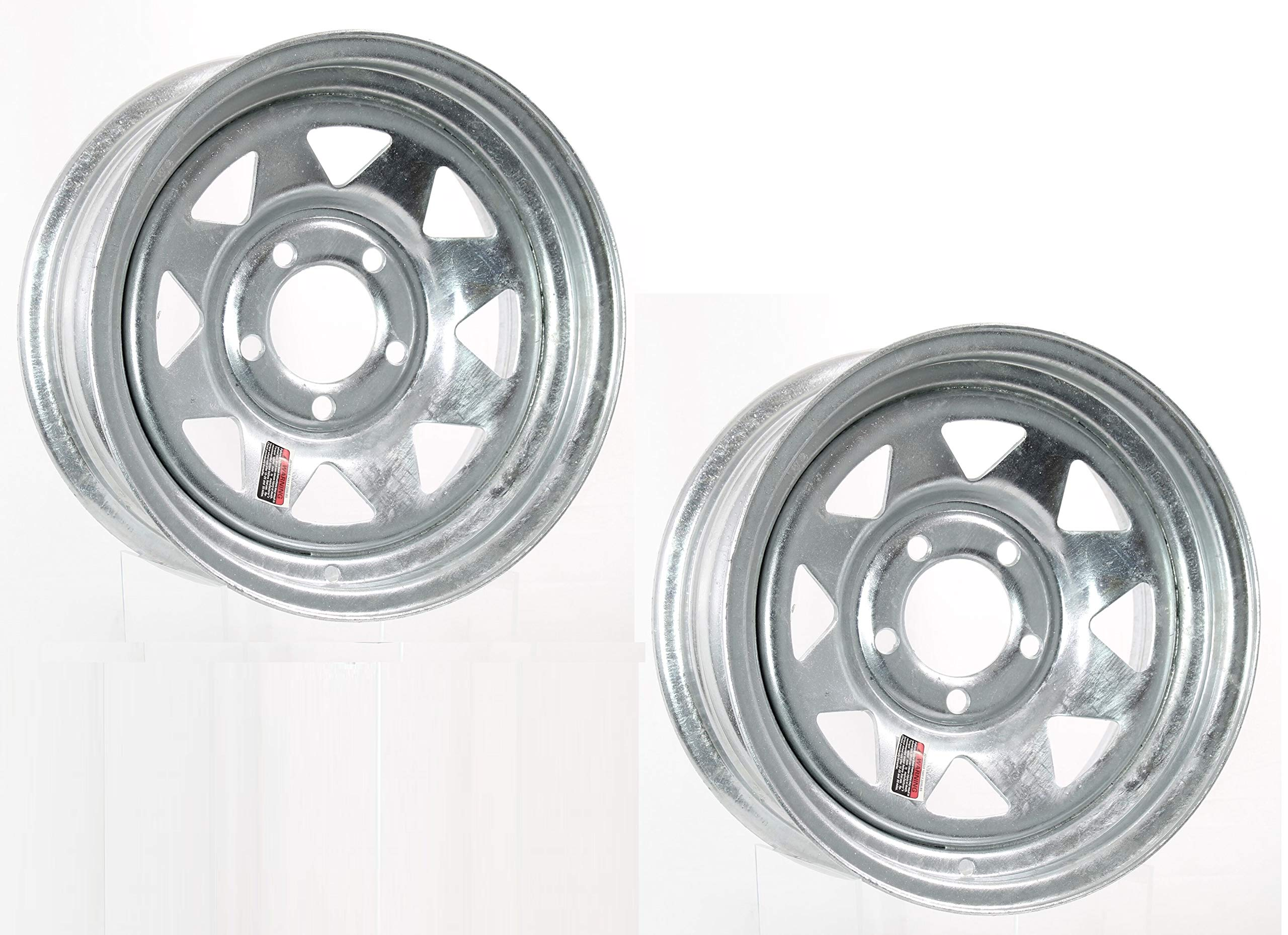 2-Pack Boat Trailer Rims Wheels 14 in. 14X6 5 Lug Hole Bolt Galvanized Spoke by Eco Trailer Tire and Wheel