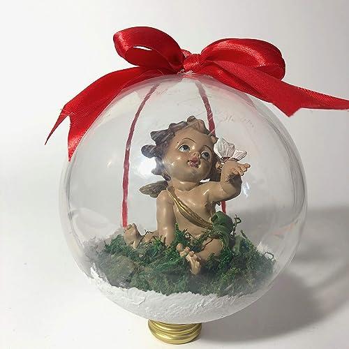 Palla Di Natale Con Foto Digitali.Palla Di Natale Con Angioletto Idea Regalo Per Natale Addobbi Natalizi Amazon It Handmade