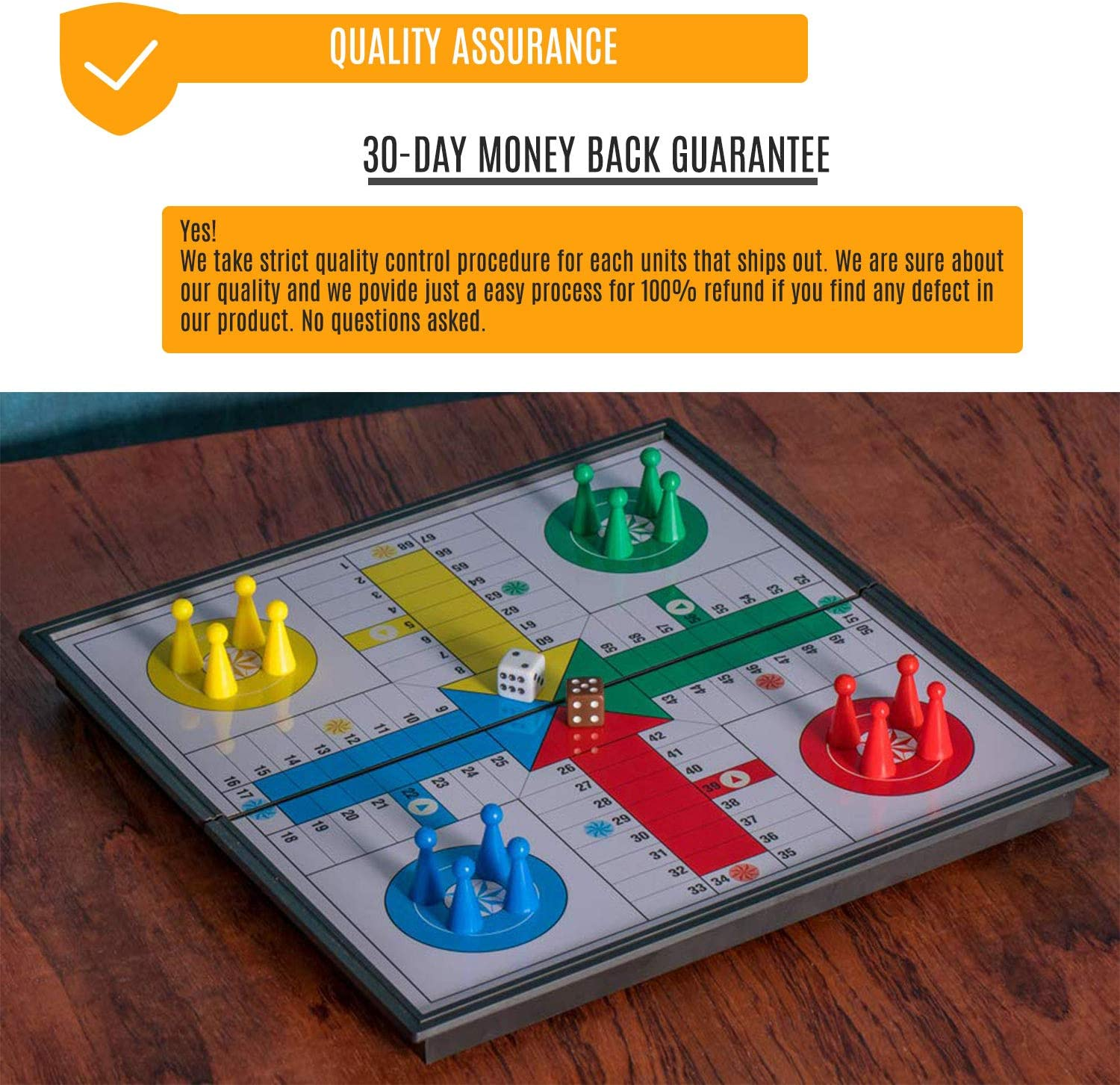 Mart NS Folding Magnetic Ludo Board Game Classic Family Parcheesi Travel Set 10 Inches