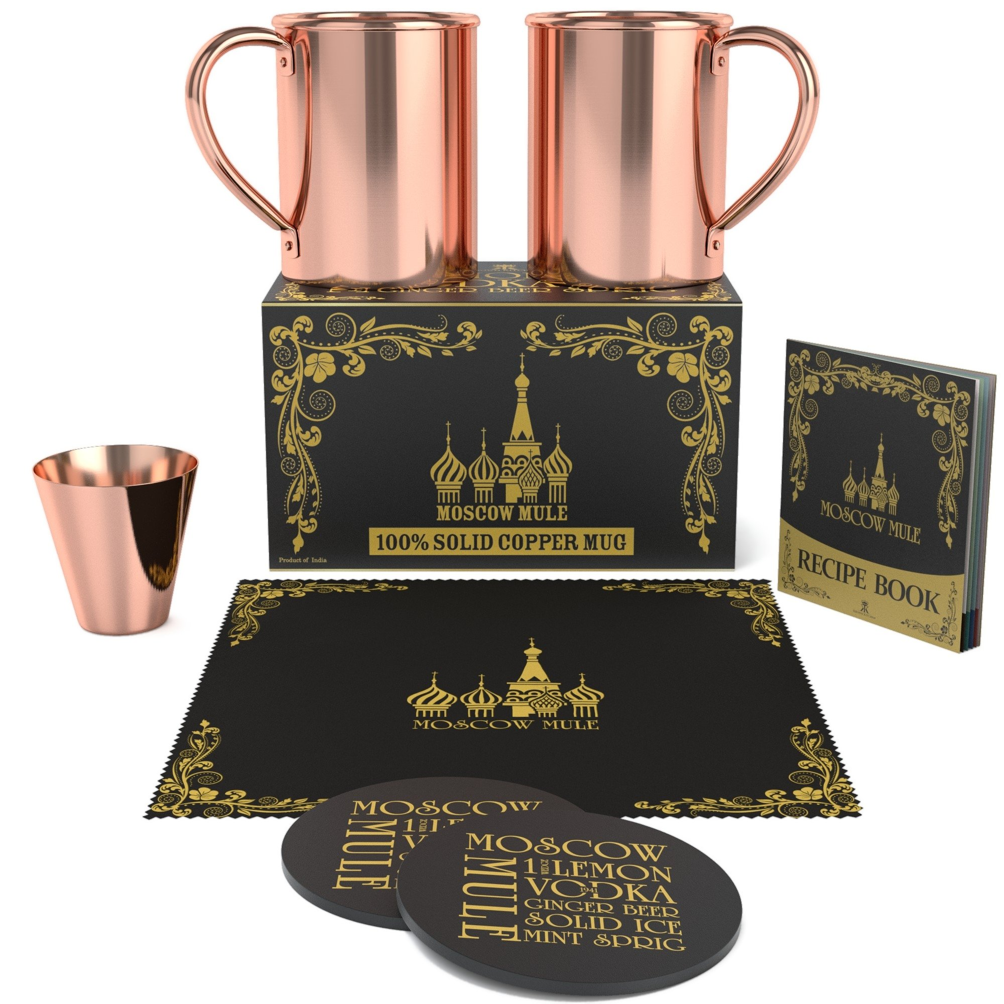 Krown Kitchen - 100% solid moscow mule copper mug (2) by Krown Kitchen (Image #6)