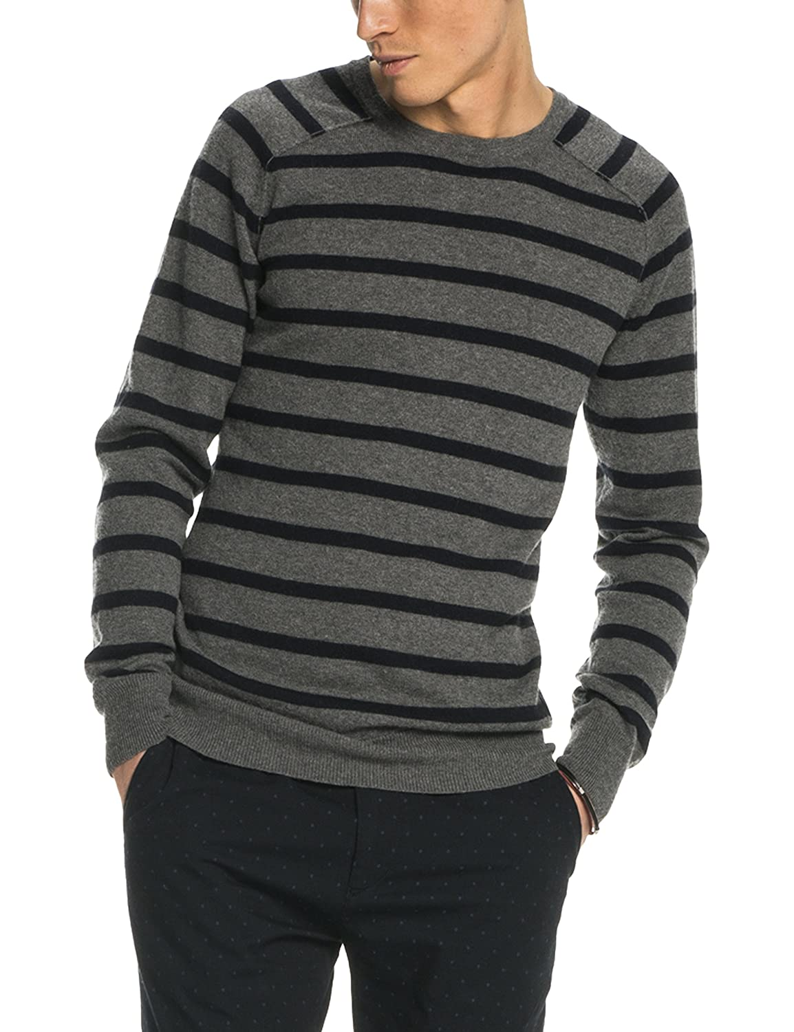 Scotch & Soda Herren Classic Crewneck Pullover in Fine Merino/Cotton Quality