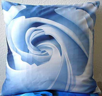Amazon Decorative Modern Ice Blue Rose Throw Pillow Cover Home Simple Ice Blue Decorative Pillows