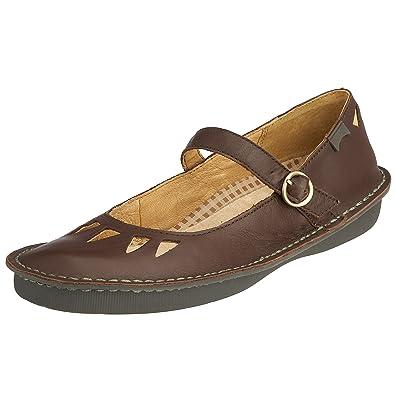 Camper 21149-004 - Zapatos con hebilla de cuero para mujer, color rojo, talla 37