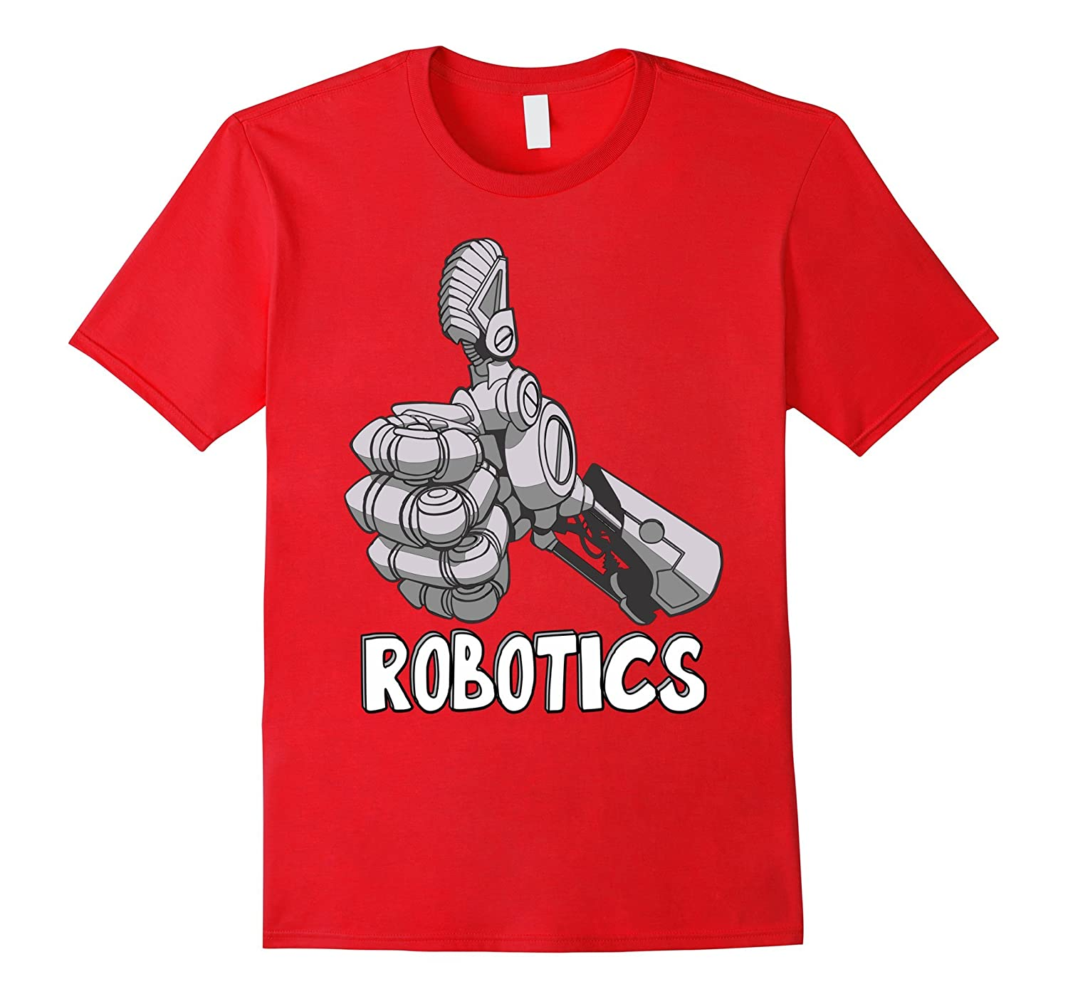 Mens Robotics Thumbs T Shirt Purple-Tovacu