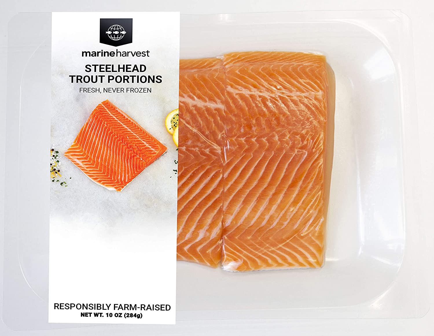 Marine Harvest Fresh Steelhead Trout Portions, 10 Oz