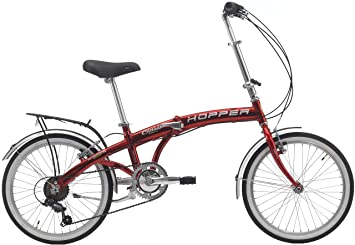 Cicli Cinzia: bicicleta plegable Hopper Aluminium 20, Hombre, rojo