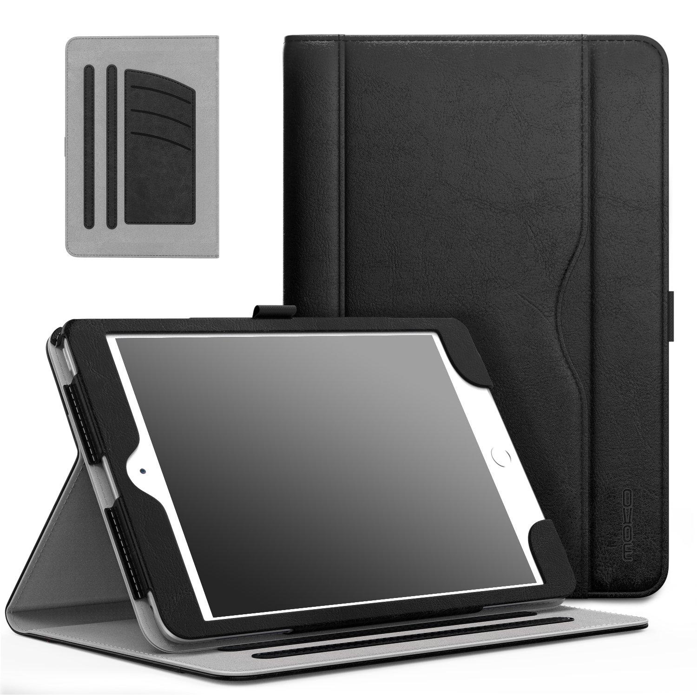 MoKo Case Fit iPad Mini 3/2/1, Slim Folding Stand Folio Cover Case Compatible with Apple iPad Mini 1/Mini 2/Mini 3, with Auto Wake/Sleep and Document Card Slots, Multiple Viewing Angles, Black
