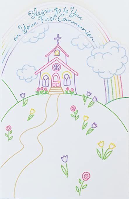 blessings to you on your first communion greeting card gods blessing upon you