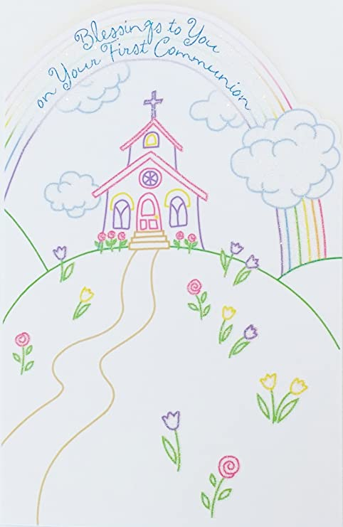 Amazoncom Blessings To You On Your First Communion Greeting Card