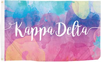 88574c424446 Kappa Delta Water Color Sorority Flag Greek Letter Use as a Banner Large 3  x 5