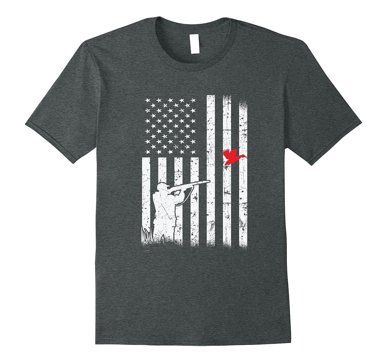 d82e97631c457 Duck Hunter American Flag USA Hunting Fishing T Shirt – Hntee.com