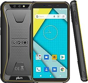 Plum Gator 6-4G Rugged Phone Unlocked Water Shock Resistant Military Grade IP68 Certified,