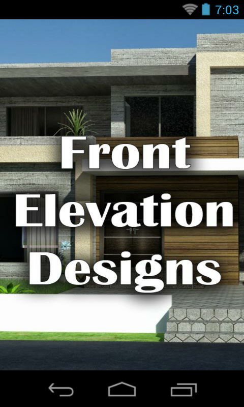 Ground Floor Modern Elevation : Amazon front elevation designs houses appstore for