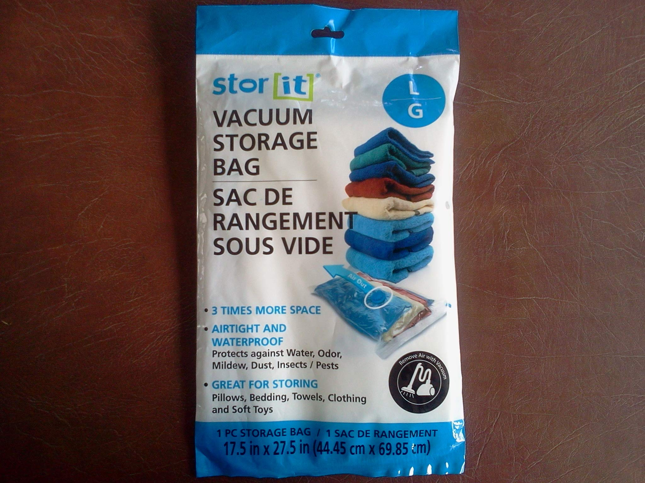Stor It Vacuum Storage Bag- Large for 3 Times More Space