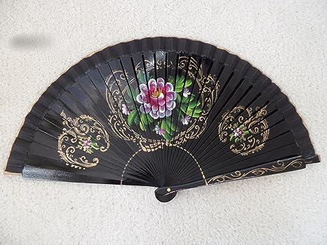 Silk fan hand painted Chance