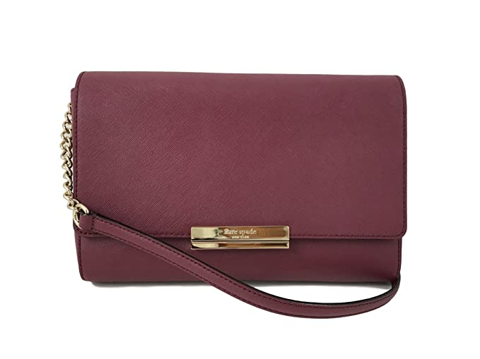 33952333b167 Kate Spade New York Remi Maiden Way Saffiano Leather Crossbody Bag in Merlot
