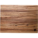 Burl & Blade Handmade Zebrawood Small (8-Inch-by-10-Inch) Cutting and Chopping Board