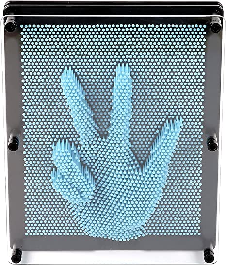 Light Blue E-FirstFeeling 3D Pin Art Sculpture Extra Large 10 X 8 Pin Impression Hand Mold Board Toy