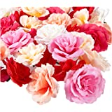 Juvale Artificial Flower Heads - 60-Pack Fake Fabric Flowers for Wedding Decorations, Baby Showers, DIY Crafts, Mixed…