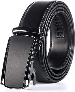 Weifert Men's Belt Dress Ratchet Leather Belts Trim to Fit