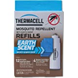Thermacell Earth Scent Mosquito Repellent Refills, 48-Hour Pack; Dirt-Scent Used to Mask Human Odor, Not for Patio Use;  Contains 12 Dirt-Scented Repellent Mats and 4 Fuel Cartridges; 48 Hours Total