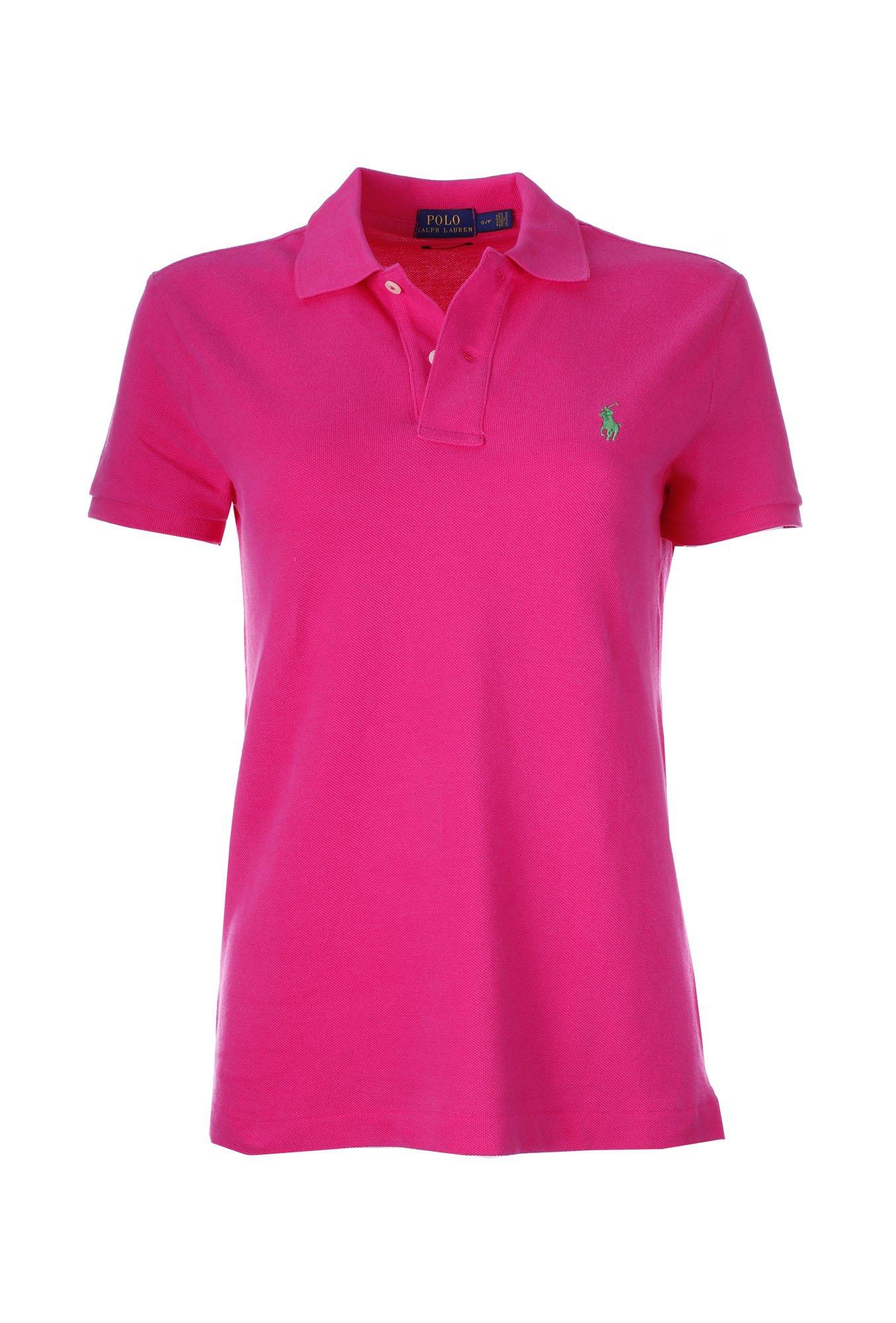 Polo Ralph Lauren Women's Classic Fit Mesh Polo Shirt (X-Large, Shocking Pink) by RALPH LAUREN (Image #1)
