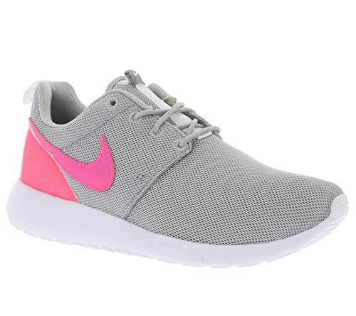 c72f68d86689 Nike Youth Roshe One (Wolf Grey Hyper Pink White)(4.5 M