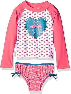 0eea30806c171 KIKO & MAX Girls' Swimsuit Set with Long Sleeve Rashguard Swim Shirt