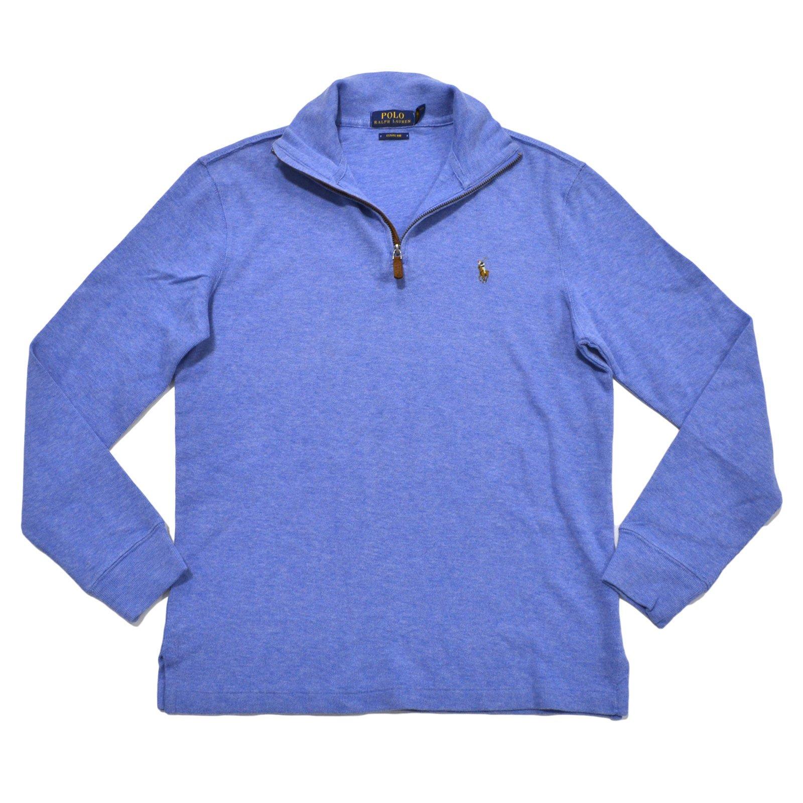 Polo Ralph Lauren Men's Estate Rib Half Zip Sweater, XL, Welsh Blue