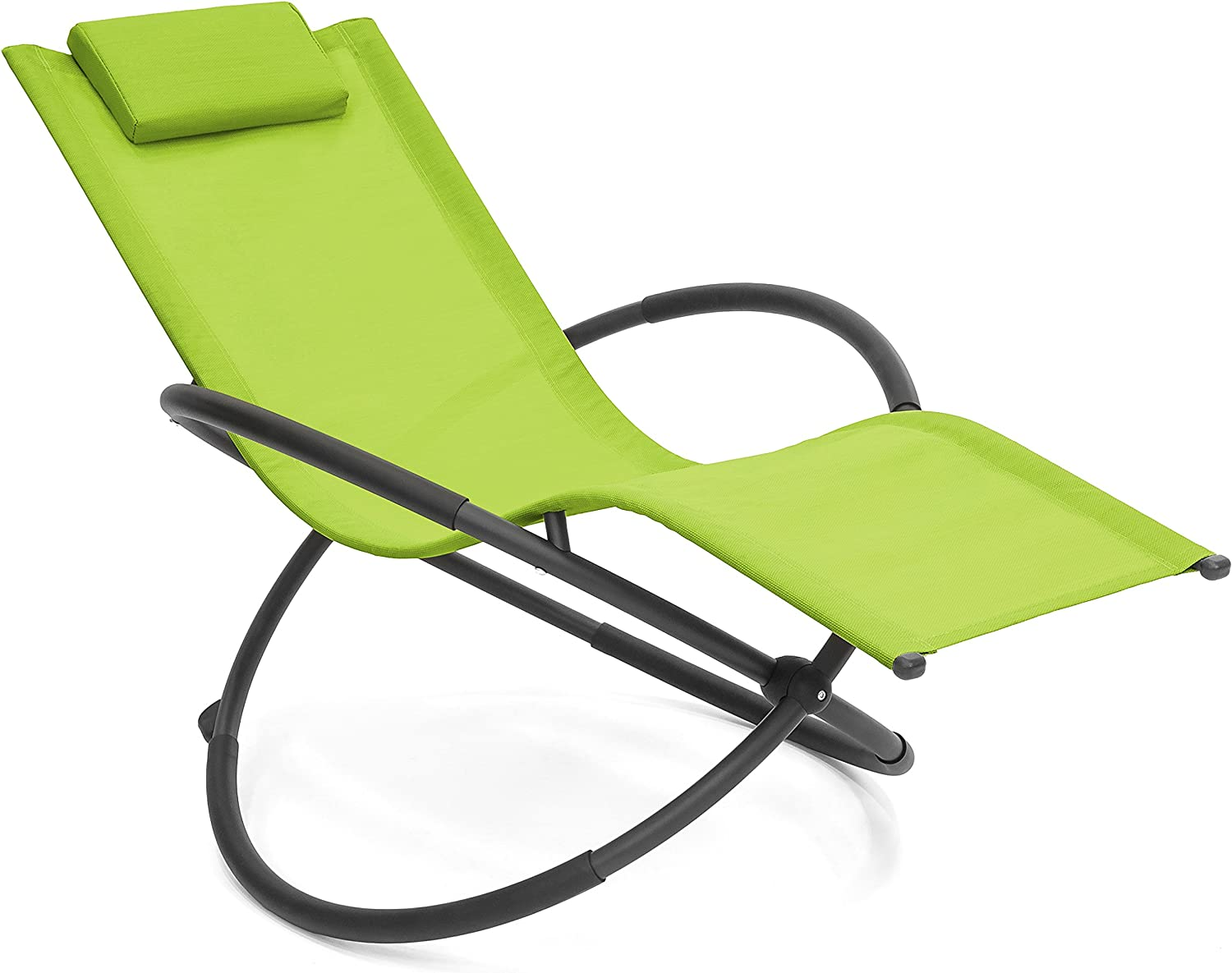 Best Choice Products Folding Orbital Zero Gravity Lounge Chair w Removable Pillow Green