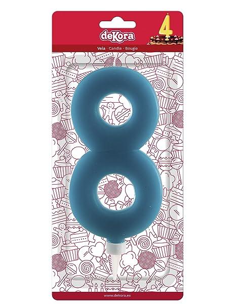 Amazon.com: Dekora Giant Number 8 Candle, Wax, Light Blue ...