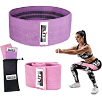 Elite Athletics Booty Hip Resistance Bands for Legs and Butt, Exercise Bands Hip Bands Wide Booty Bands with Anti Slip Elastic and Carry Bag (2019 Upgrade)
