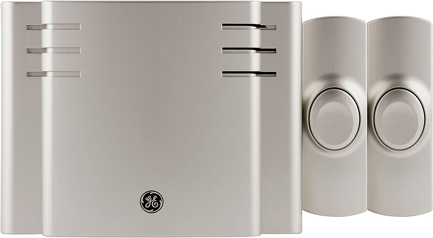 GE Wireless Doorbell Kit, 8 Melodies, 1 Receiver, 2 Push Buttons