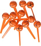 Oasis Supply BC B-64 Basketball Cupcake Topper Picks, 12-Pack