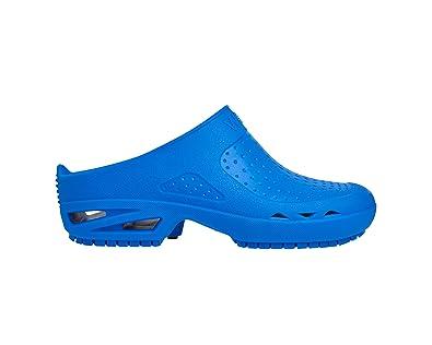 Bloc Ouvert - Chaussure professionnelle WOCK - Stérilisable, Antidérapante, Absorption des chocs, Respirable, Lavable - Fuchsia - EUR: 34-35
