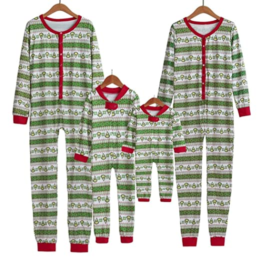 Ecurson Family Matching Xmas Pajamas Set Women Man Kid Adult Pjs Sleepwear Omesie (Kid,