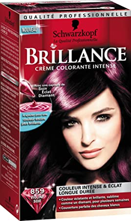 schwarzkopf brillance coloration permanente violine soie 859 - Nuancier Schwarzkopf Coloration