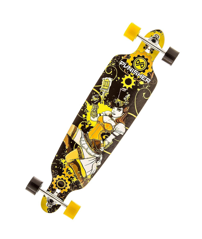 【あすつく】 Punisher Skateboards Punisher Steampunk Drop-Through Deck, Canadian Maple Yellow/Black, Longboard Skateboard with Concave Deck, Yellow/Black, 40-Inch by Punisher Skateboards B00FRRNYN6, レザークラフト一革:2a5383db --- a0267596.xsph.ru