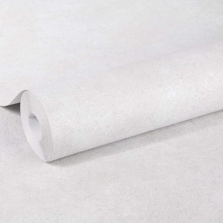 Superfresco Easy Papier Peint Intiss/é Concrete Uni Gris Argent 10 m x 52 cm